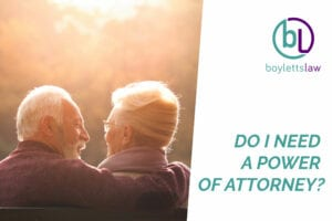 Couple sat on bench image for Power of Attorney blog