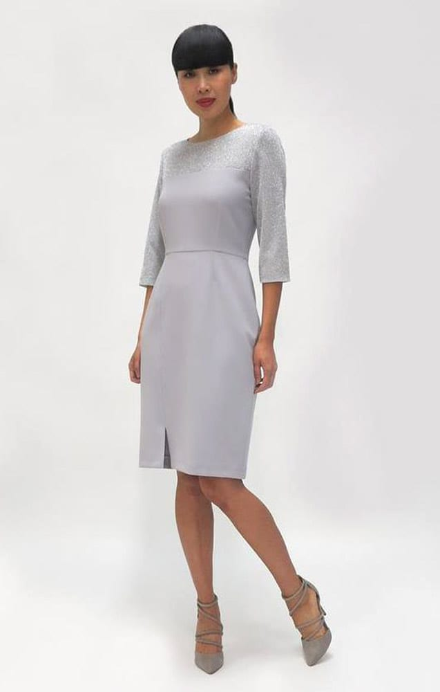 FeeG Grey Dress Glitter Top