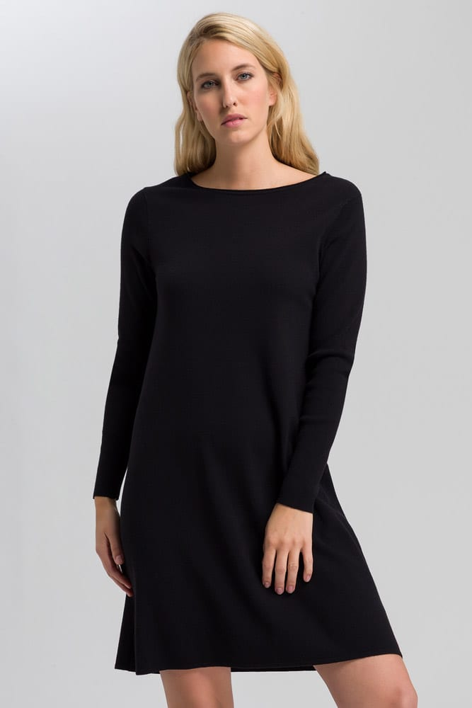 Marc Aurel Black Knit Dress