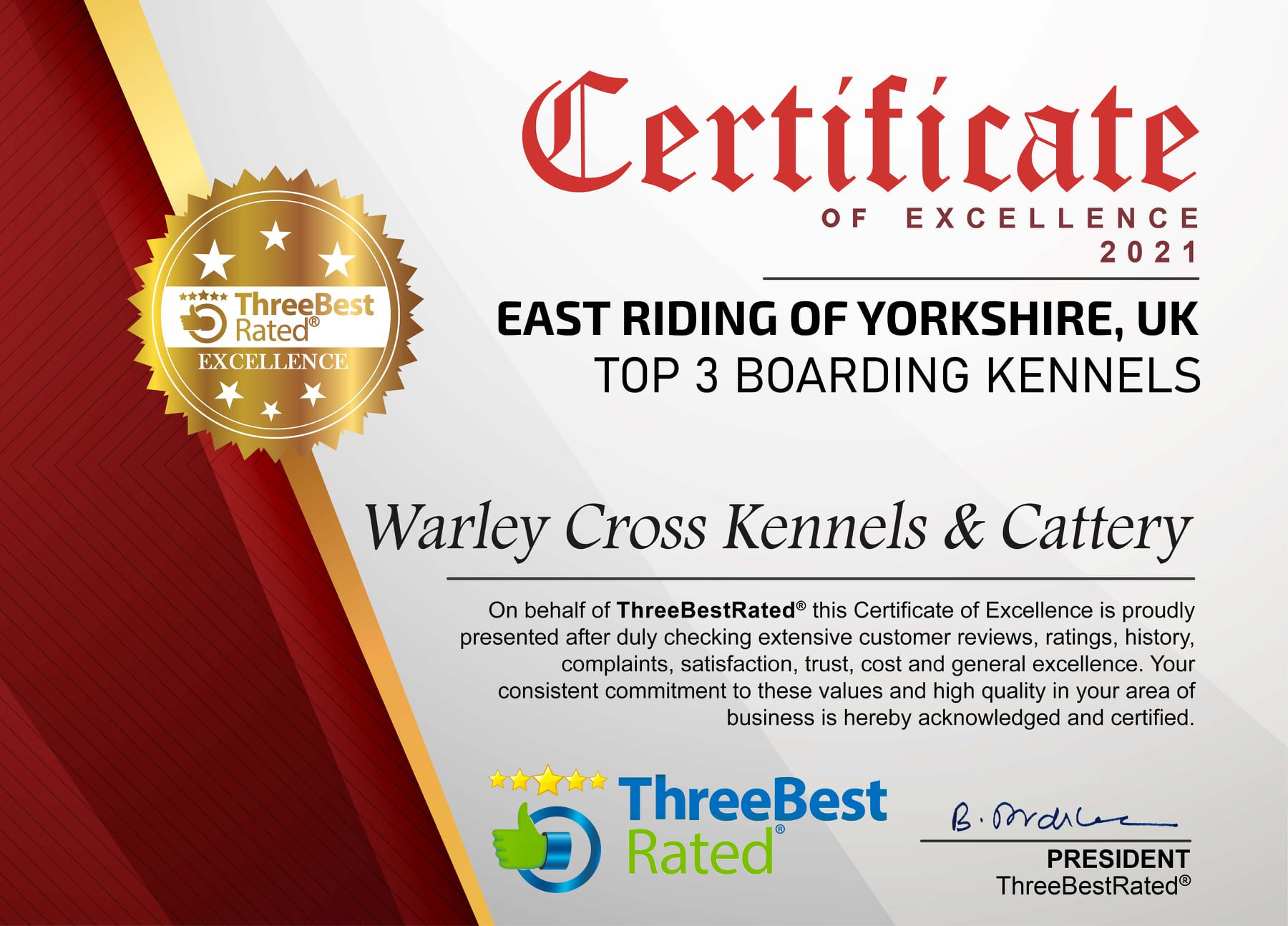 Top 3 Bets Rated Warley Cross Kennels and Cattery